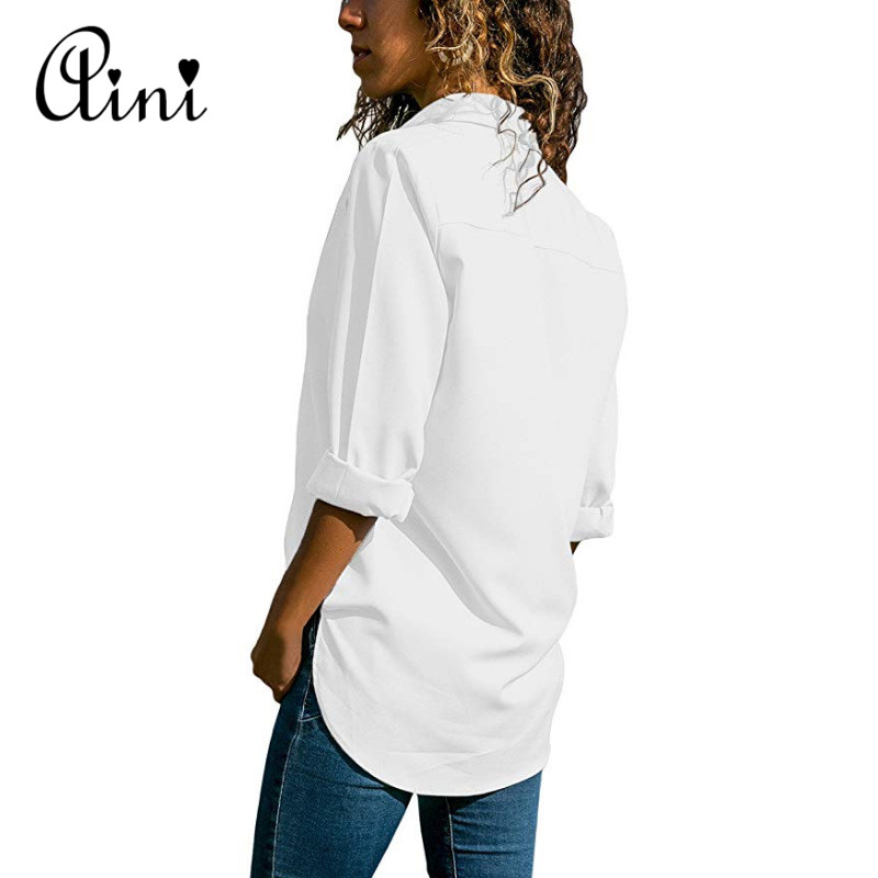 Plus Size 5XL Women Tops And Blouses 2018 Autumn Casual Solid Hollow Out Button Cotton Blouse Elegant Office Lady Female Shirts 3