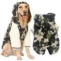 Зима теплая руно Большой Большая собака пальто куртки камуфляж pitbull собака щенок толстовка пижамы одежда золотистый ретривер собака одежда
