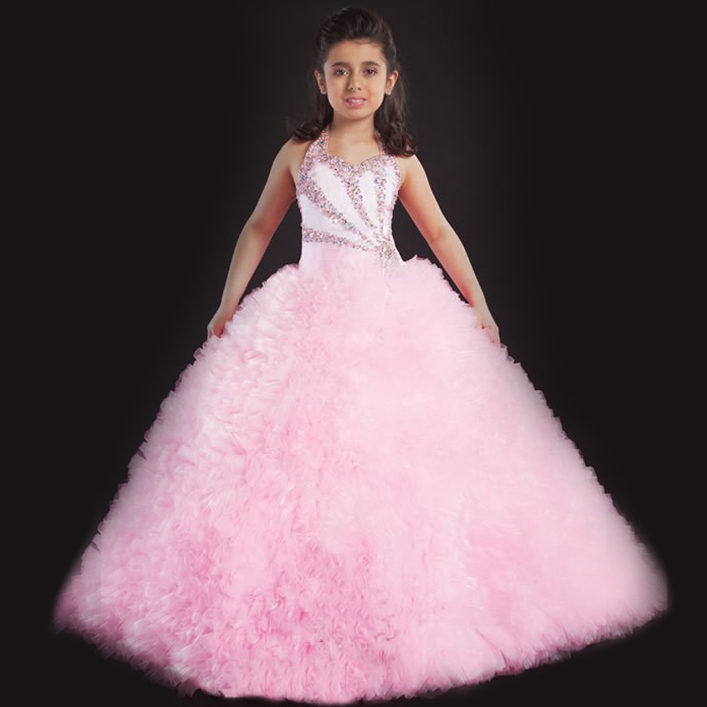 Customize a variety of colors flower girl dresses Ankle-length girls pageant dresses vestidos de comunion 水质理化指标检测工作页