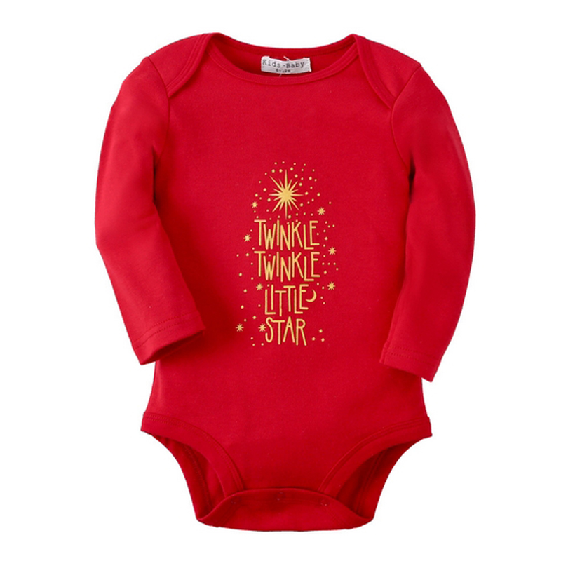 Newborn Jumpsuits Baby Girl Clothes Twinkle Stars Long Sleeve Bodysuits Spring Autumn Infantil Baby Body Red Overall Clothing(China)