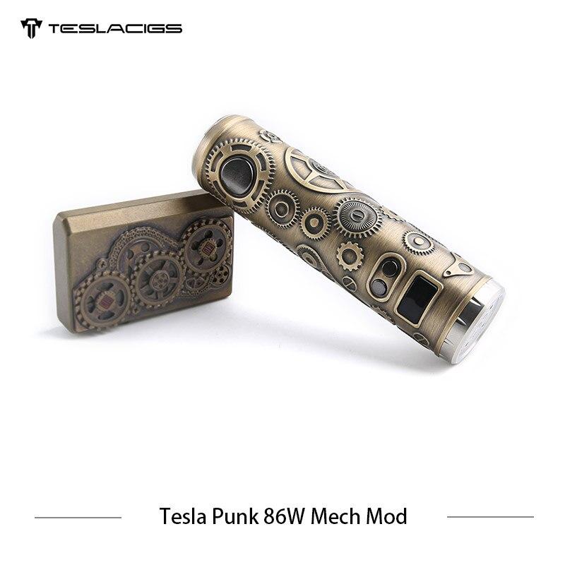 E Cigarette Tesla Punk 86 w Mech Mod Teslacigs Max 86 w Mécanique Mod Unique 18650 Vaporisateur Cigarette Électronique Mod VS Vgod Mech Mod - 4