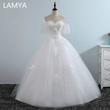 LAMYA Real Photo Lace Appliques Wedding Dress Princess Elegant Ball Gown Bridal Gowns Fashionable Customized Vestido De Noiva