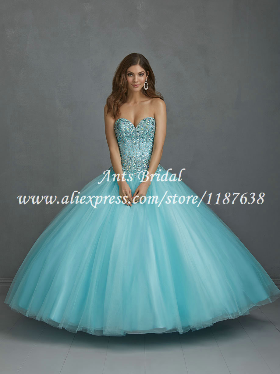 Designer Sweet 16 Dresses Crystals Bodice Corset Sweetheart Tulle ...