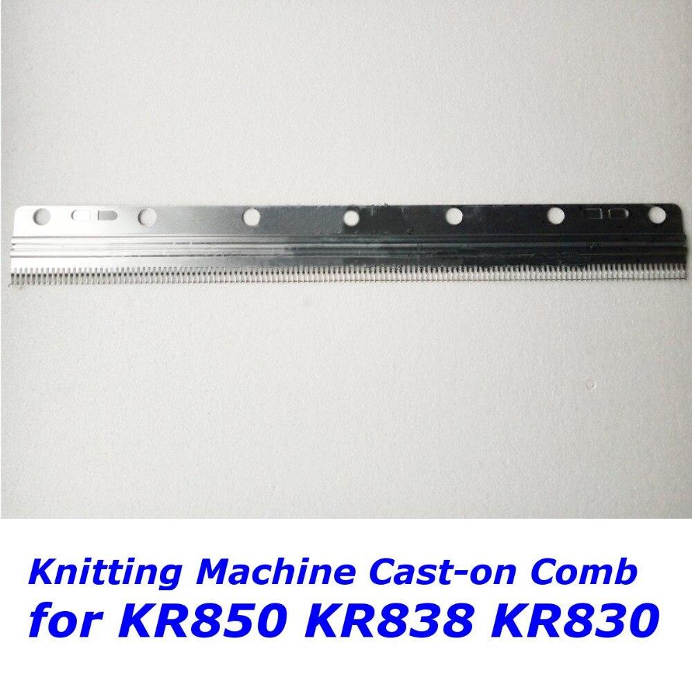 Jeu de pièces de rechange à peigne coulé court | Pour Brother, Machine à tricoter, KR850 KR838 KR830 24 pouces (130 points)