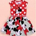 Мода лето 0-3 года девочка одежда детская одежда красный рукавов девушки горошек детские платья младенческой