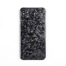 新しい鍛造複合リアルカーボン繊維携帯電話ケースiphone xs最大カバーフル保護x xs xrケース