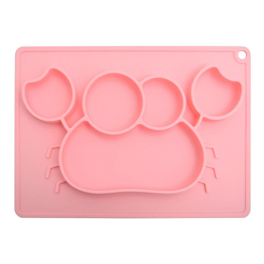 Minimat детская чаша детская посуда детская Миска нескользящая экологически чистый материал силикон 2 цвета соска для кормления чашка - Цвет: pink