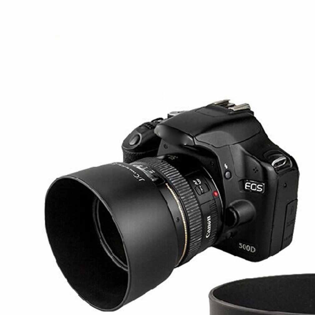 Hood Che nắng Zoom Ống kính Che Nắng Bảo Vệ Cho Canon 50mm f/1.4 ES-71II 58mm Bóng Bao Da Máy Ảnh tấm bảo vệ Phụ Kiện