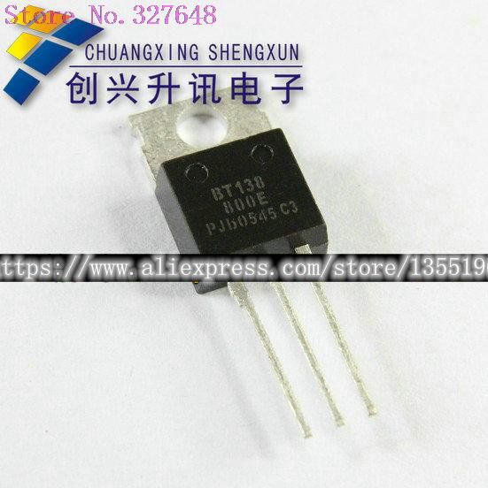 10pcs/lot BT138 BT138-800 = BT138-600 TO-220