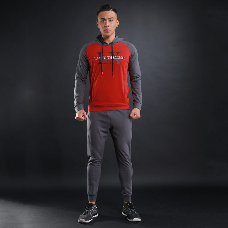 Winter sports and fitness equipment all-match suit Running Set metrosexual man hooded long sleeved pants thin sweater two pcs LX ld 988 ultra quiet fitness car home bicycles indoor sports to lose weight fitness equipment load 70kg indoor cycling bikes