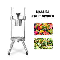 Manual Fruit Pear Cutter Vertical Stainless Steel Fruit Divider Tool Hand Push Fruit Slice Kitchen Machine