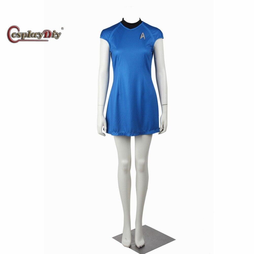 Cosplaydiy Star Trek Into Darkness Nyota Uhura Communication Officer Dress Adult Women Halloween Cosplay Costume Custom Made