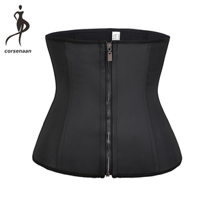 Women Waist Trainer Latex Belt Tummy Control Zipper Body Shaper Corset Girdle Slim Belt Size XS-6XL 608#(China)