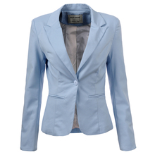 Women Jacket Long Sleeve One Button Suit Ladies Blazers
