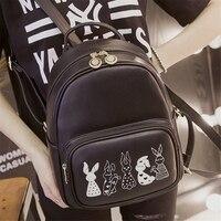 New OX37 42 Women Backpack Female Black Backpacks Women Bag Mochila Student Backpack Korean Style Solid
