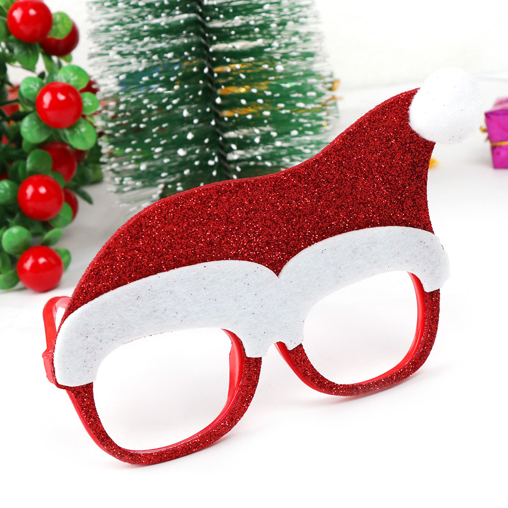600 pçs decorações de natal para decoração de casa óculos de ano novo para crianças papai noel cervos boneco de neve enfeites de natal aleatório - 2