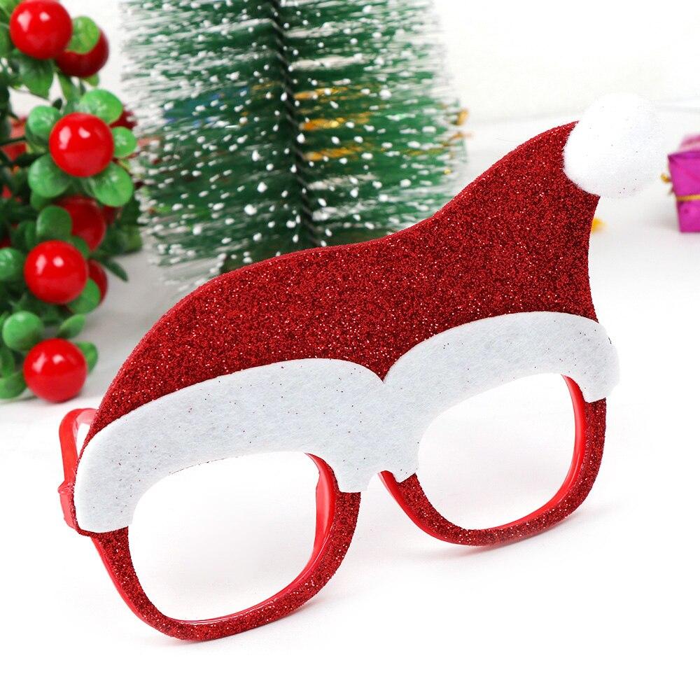 600 шт рождественские украшения для домашнего декора новогодние очки для детей Санта Клаус Олень снеговик рождественские украшения случайный - 2
