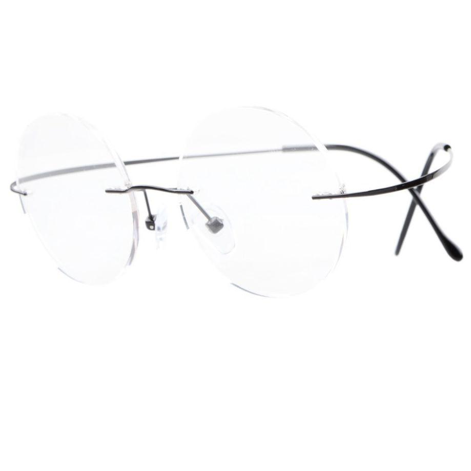 ΞR15026 eyekepper titanio Marcos óptica gafas sin montura hombres ...