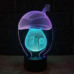 Гриб Led 3d Визуальный Night настольная лампа творческий семь Цвет Touch зарядки стерео подарок Ночной Настольная лампа для Спальня