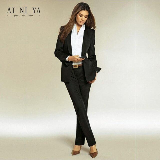 83eb5b79900 Для женщин Брючные костюмы для женщин черный Для женщин Дамы индивидуальный  заказ офисные Бизнес Смокинги для