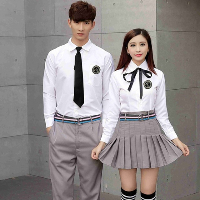 000c43190e21 Adult Japanese Teenager School Uniform Students Summer School Wear Male and Female  High School Uniform Graduation Costume D-0200