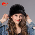 Real mink fur hat Beanie cap head warmer headgear hottest Skull womens' hat winter good gift