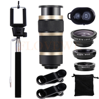 New 10in1 Mobile Lenses For IPhone 7 Plus Xiaomi Samsung Huawei 8X Zoom Telephoto Lentes Fisheye