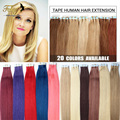 High Quality Tape Hair Extensions 20Pcs Brazilian Virgin Hair Straight Skin Weft Hair Extensions 16-24Inch Tape in Human Hair