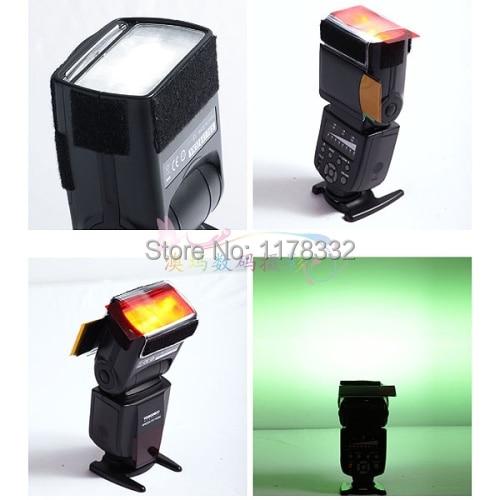 12 pcs Strobist Flash Color cartão difusor
