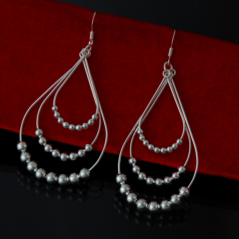 Wholesale  Fashion Jewelry ,925 Silver Color Earrings  . Nice Jewelry. Good Quality   FE0083