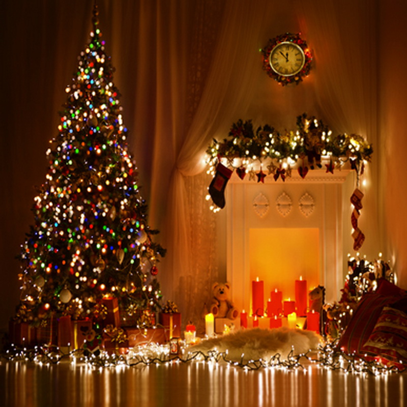 5*7ft Christmas Digital Backgrounds For Photography Light