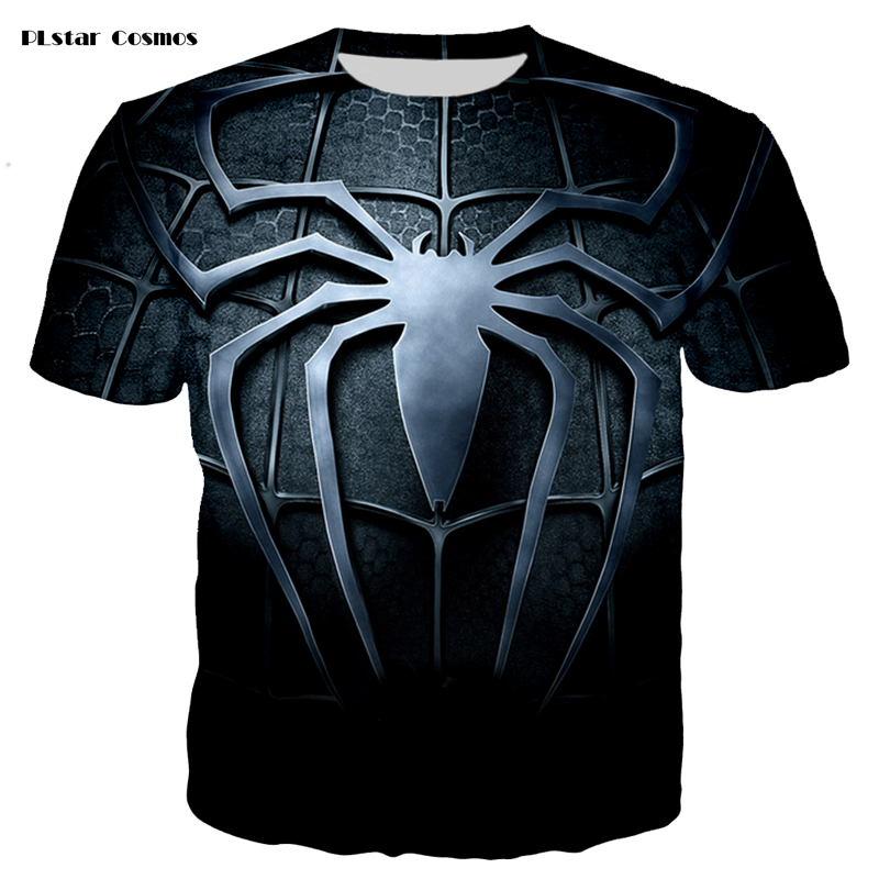 PLstar Cosmos brand animation character Venom 3D printing fashion T-shirt street casual Men/Women short-sleeved T-shirt S-5XL