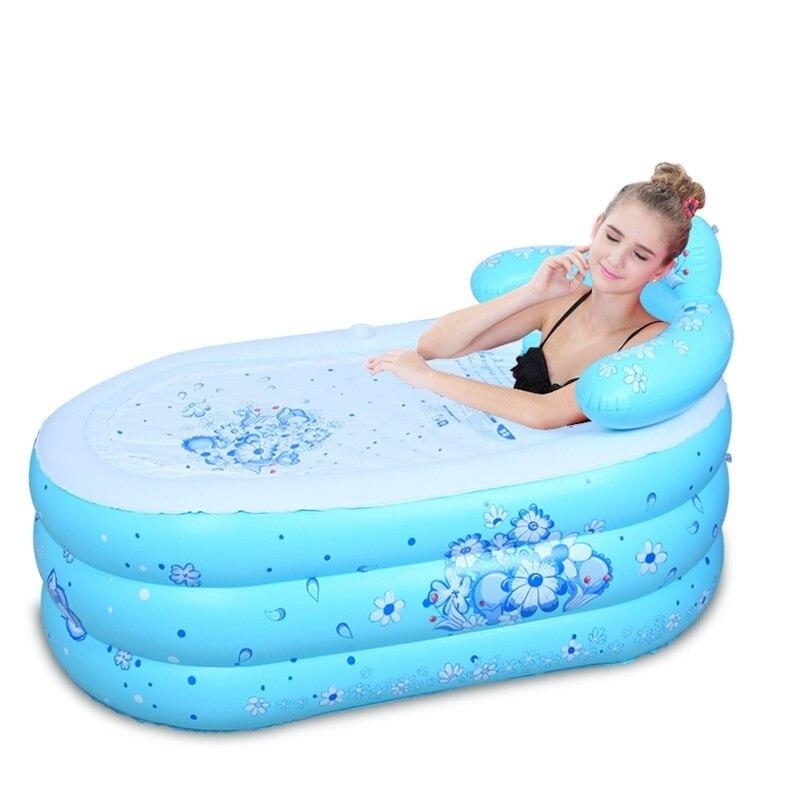 Pied Portable bébé Baignoire Gonflable Banheira Inflavel bain adulte bain à remous Baignoire Gonflable