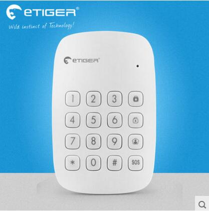 Free shipping Etiger 433Mhz wireless RFID tags keypad for Etiger S4 alarm System And S3B GSM alarm System secual box v2 etiger wifi alarm system gsm safety alarm system with rfid reading keypad arm disarm alarm system