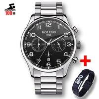 100M Waterproof Fashion Casual Brand Quartz Watch Men Military Stainless Steel Sports Watches Man Clock Relogio