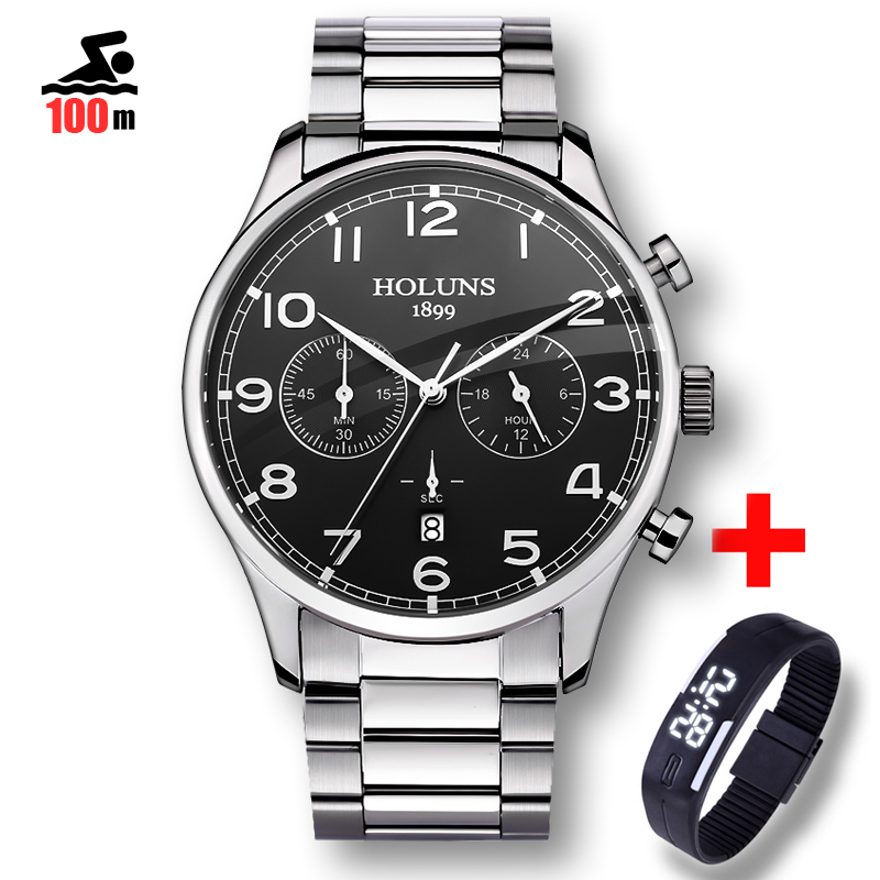 100M Waterproof Fashion Casual Brand Quartz Watch Men Military Stainless Steel Sports Watches Man Clock montre homme 2018 new все цены