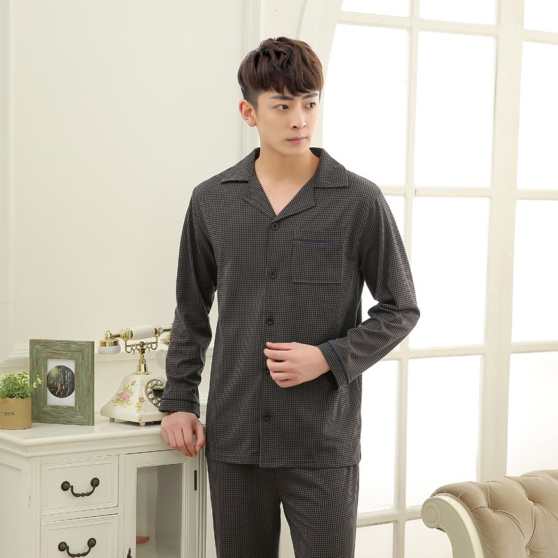 Men\'s Cotton Polyester Pajama Sets RBS-C LYQ1414 21