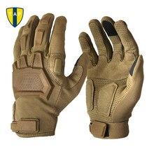 Тактические Военные мужские перчатки, армейские Пейнтбольные страйкбольные, для спорта на открытом воздухе, для стрельбы, пеших прогулок, гоночных, для полиции, полный палец перчатки