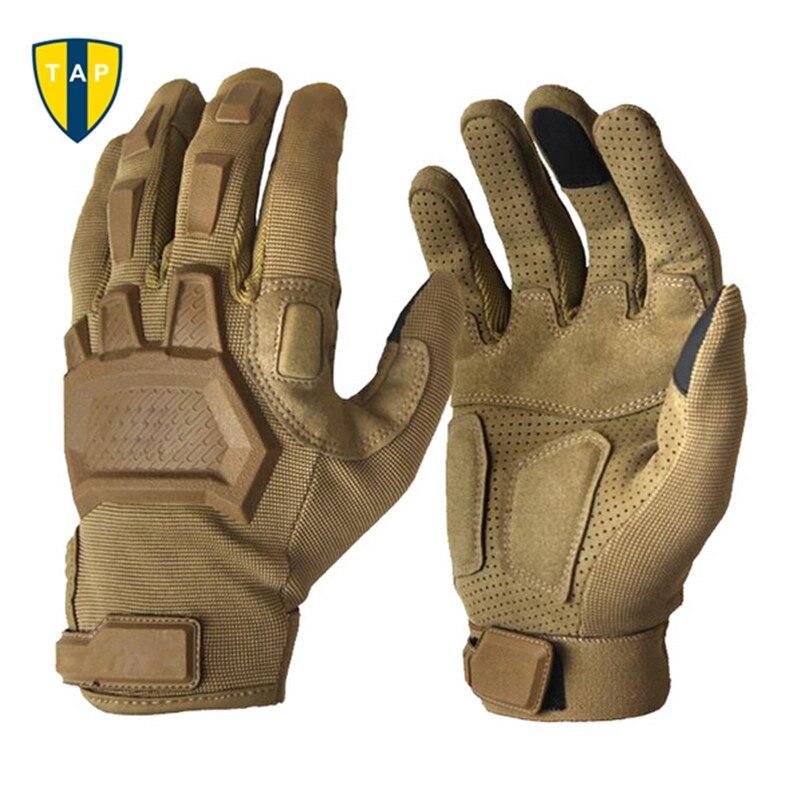 Guantes militares tácticos para hombres, guantes de Paintball del ejército, deportes al aire libre, tiro, senderismo, carreras, policía, guantes de dedo completo