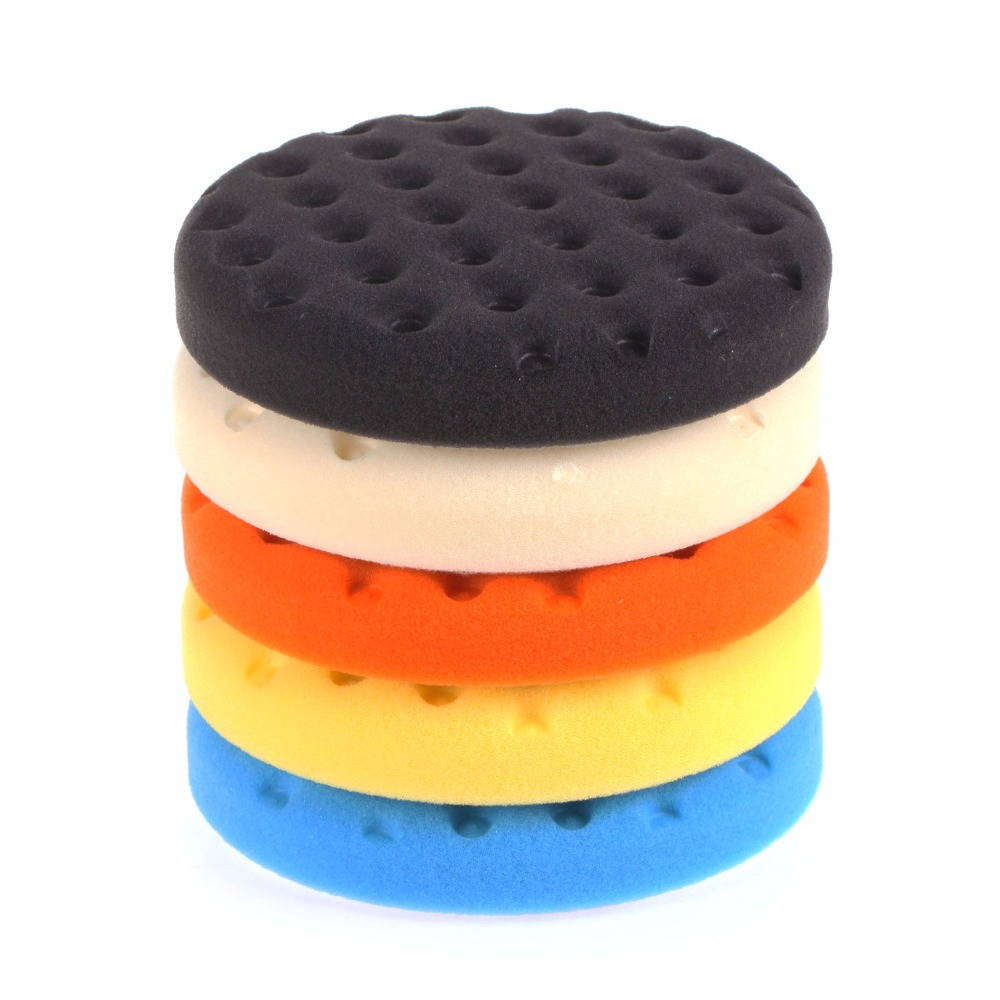 How To Buff A Car >> SPTA 5 inch (125mm ) Yellow/Orange/Blue/Black/White Buff Pad Polishing Pad kit For Car Polisher ...
