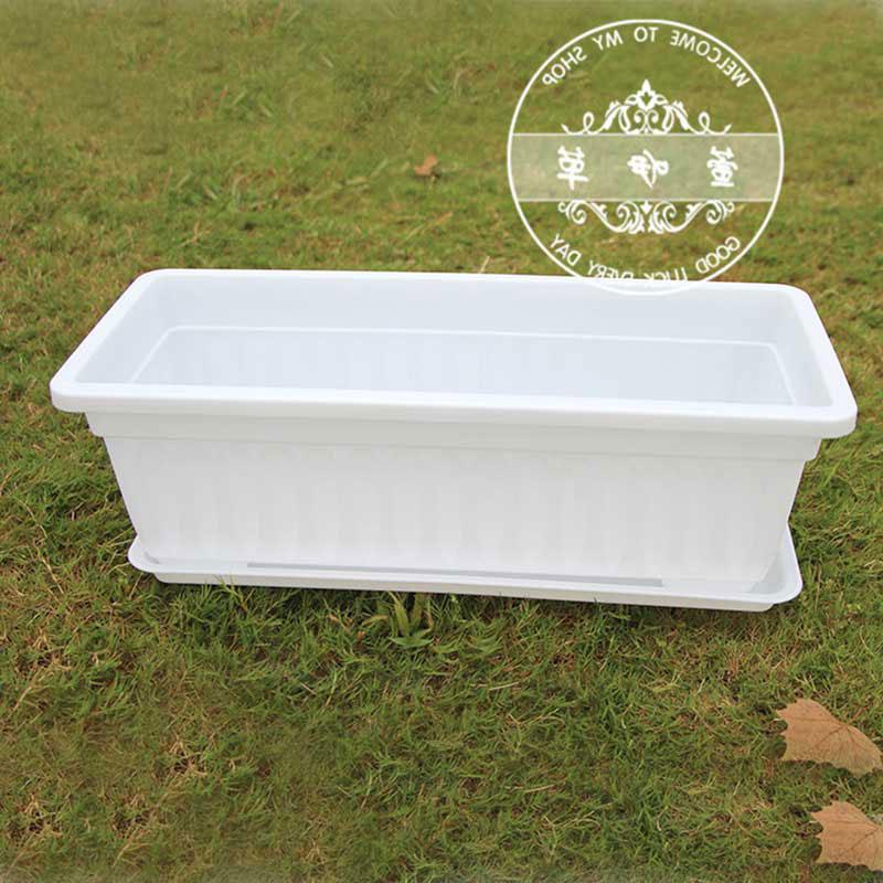 blanco grande colorido plstico maceta maceta jardinera rectangular cajas maceta macetas de