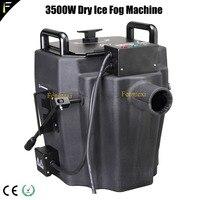 Compact 3500W Mini Dry Ice Low Fog Smoke Machine Ground Fogger Solid Carbon Dioxide Emission Machine for Perform Film Wedding