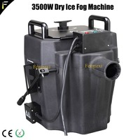 Compact 3500W Mini Dry Ice Low Fog Smoke Machine Ground Fogger Solid Carbon Dioxide Emission Machine for Perform Film Wedding