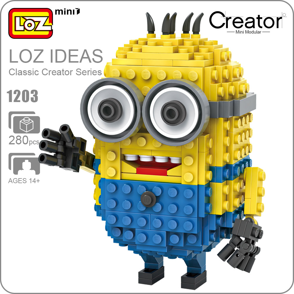 LOZ Mini Blocks Anime Character Designer Action Figure Model Kids Assembly Toys Creators ...
