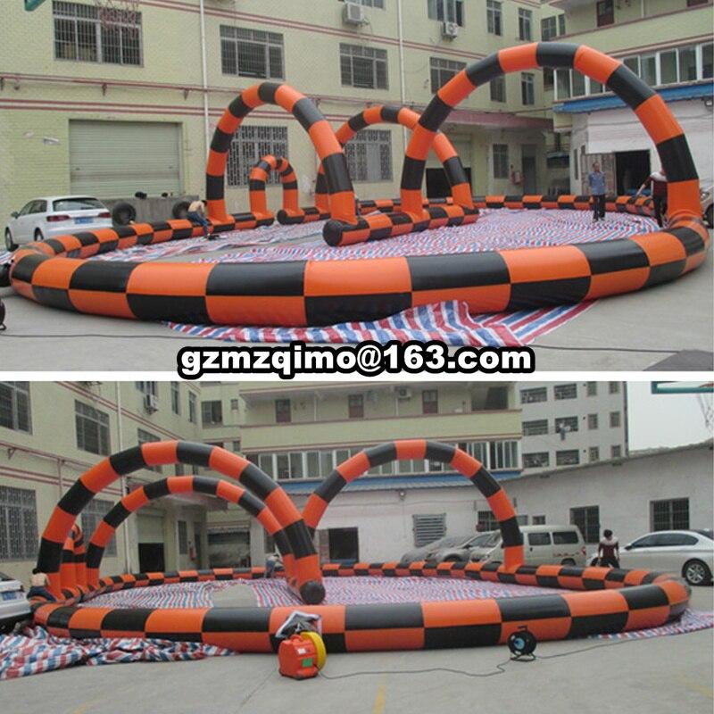 Jeux gonflables de Sport de boule de Zorb de piste de course de jouets de NEVERLAND pour l'amusement