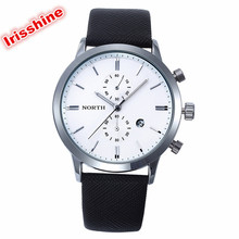 Irissshine 0093 Man watches 5 colors Fashion Men Casual Waterproof Date Leather Military Japan Watch Gift