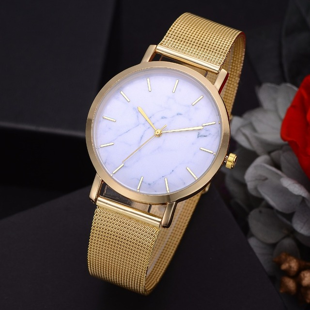 Lvpai Dropshiping Fashion Rose Gold Mesh Band Creative Marble Wrist Watch Casual Women Watches Brand Quartz Gift Relogio 3