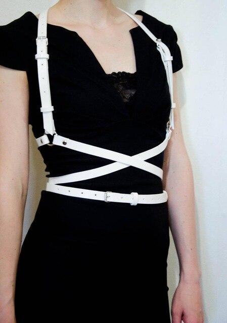 UYEE Трендовое сексуальное женское белье ремень Регулируемый кожаный подвязка для женщин эротический пояс для тела подтяжки жгут LB-007 - Цвет: LB-007-W