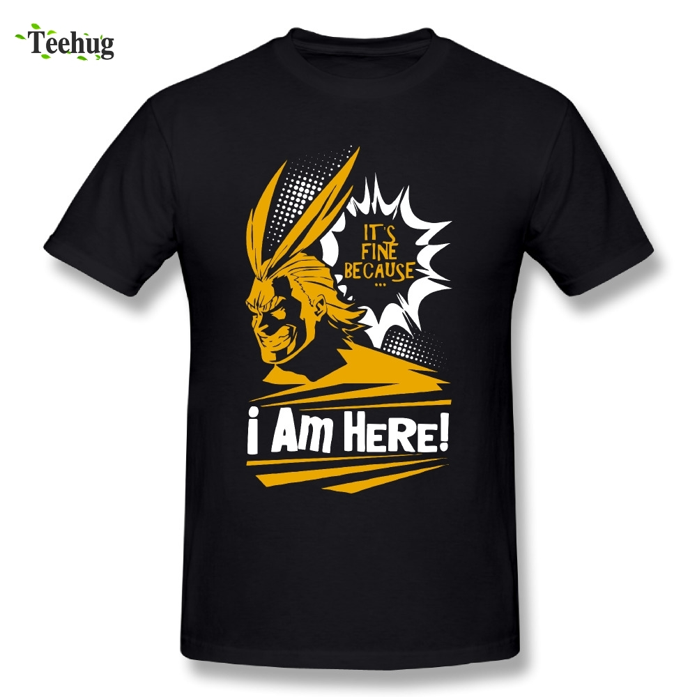 Fashion Male My Hero Academia - All Might T Shirt Great Design T Shirt 100% Cotton Tee Nice Short-sleeved Tees