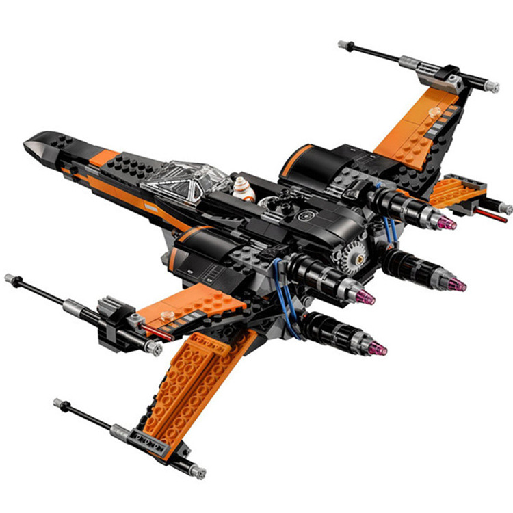 New Lepin 05004 845pcs Star Wars First Order Poe's X-wing Fighter Assembled Toy Building Block Compatible legoed With gift 75102